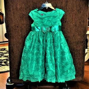 Holiday Dress Princess Faith 4T Green